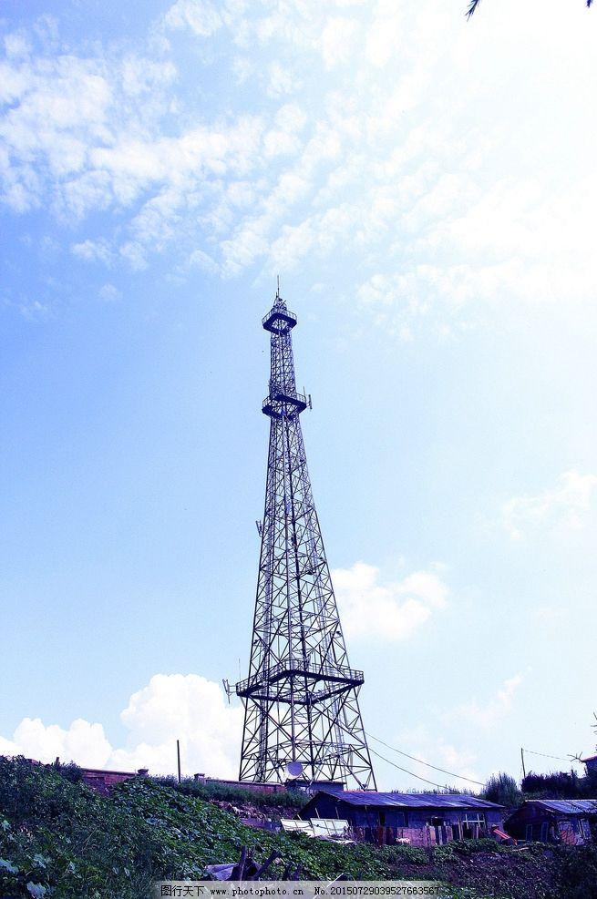 电视广播 信号塔 摄影图片