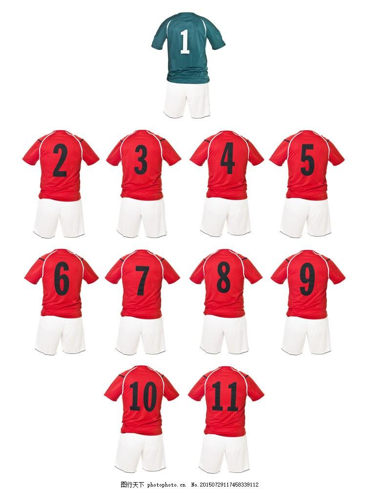 红色数字球服设计图片