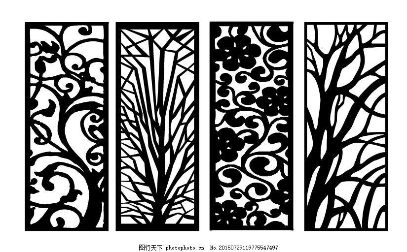 雕刻花 镂空雕花 镂空隔断 镂空花纹图案 欧式花 广告设计 白色