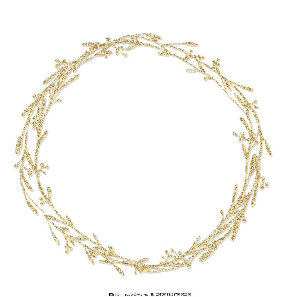 卡通树枝圆圈png元素 免抠元素 透明素材 圆环 圆形