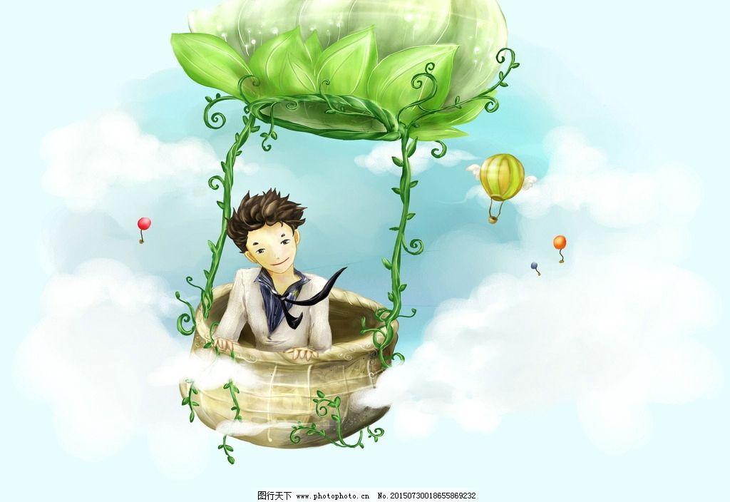 彩绘人物 彩绘男孩 彩绘壁纸 高清壁纸 彩绘故事壁纸 人物 梦幻背景