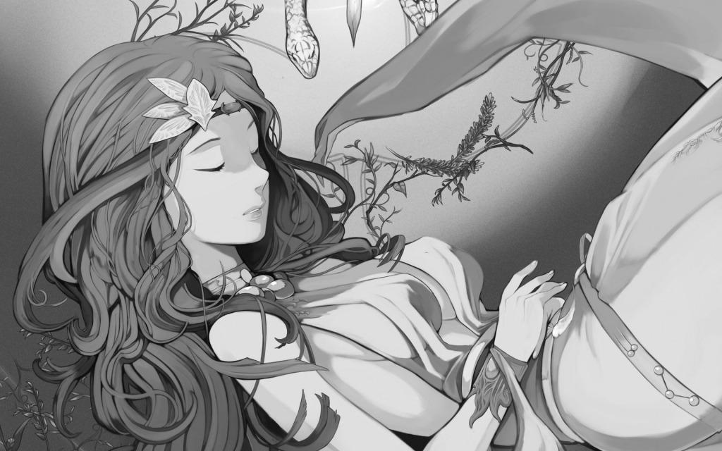 睡觉的少女_可爱卡通_动漫卡通