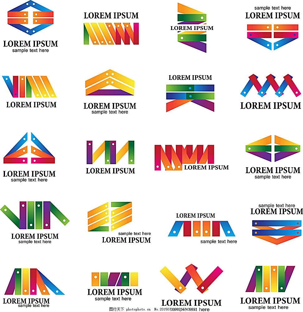 木板拼图 形状 样式 模板 插画 彩色 笔刷 其他模板 广告设计图片