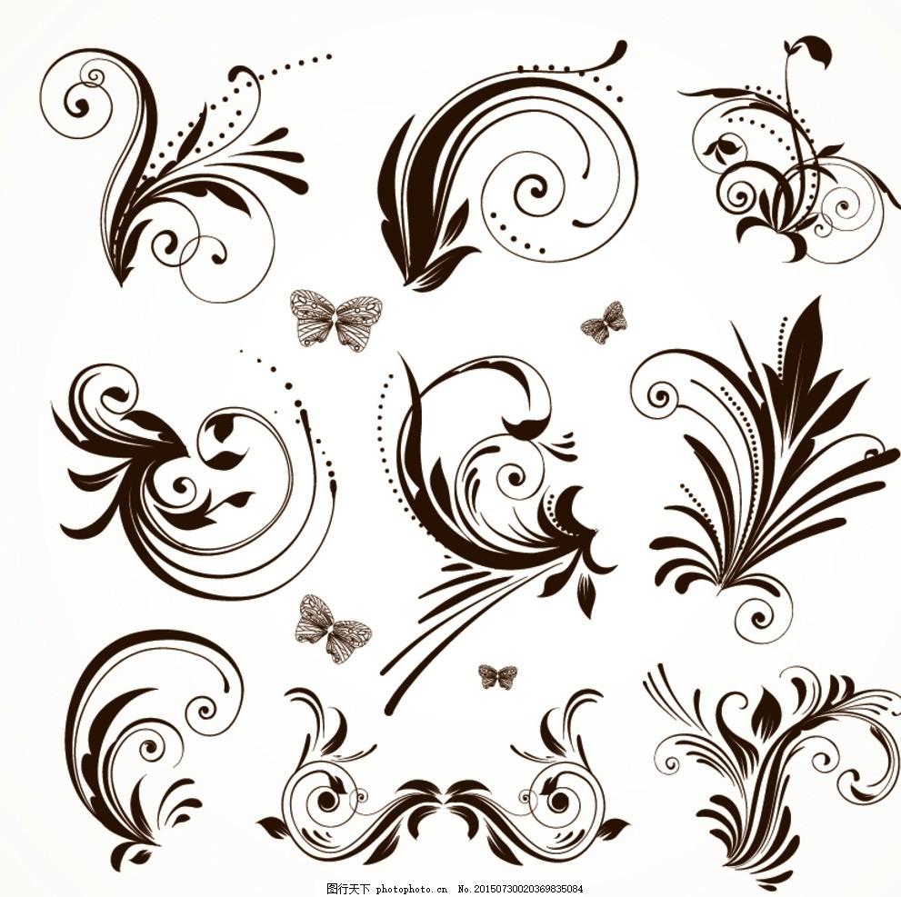 万字格 设计素材 花纹素材 古典矢量边框 欧式素材 psd花纹 花纹背景