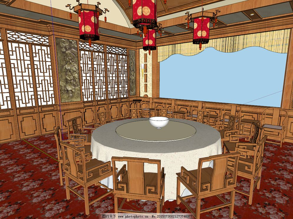 中式宴会厅图片图片