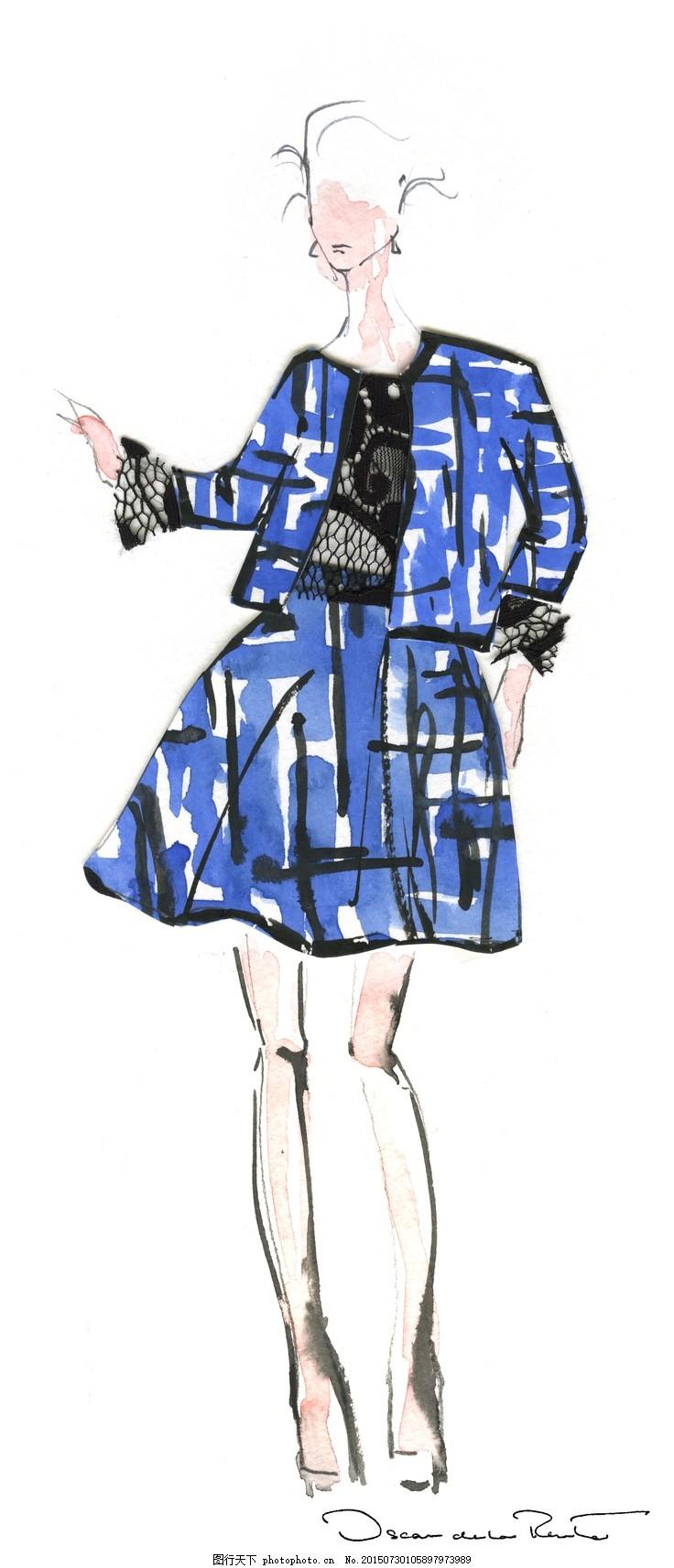 服装设计手绘图 服装美女 服装设计 手绘 手绘服装 服装插画     白色