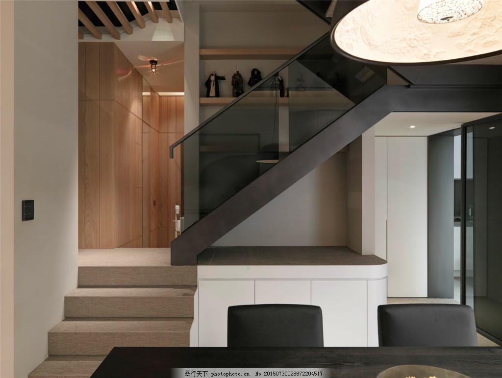 简约餐厅楼梯口装修效果图