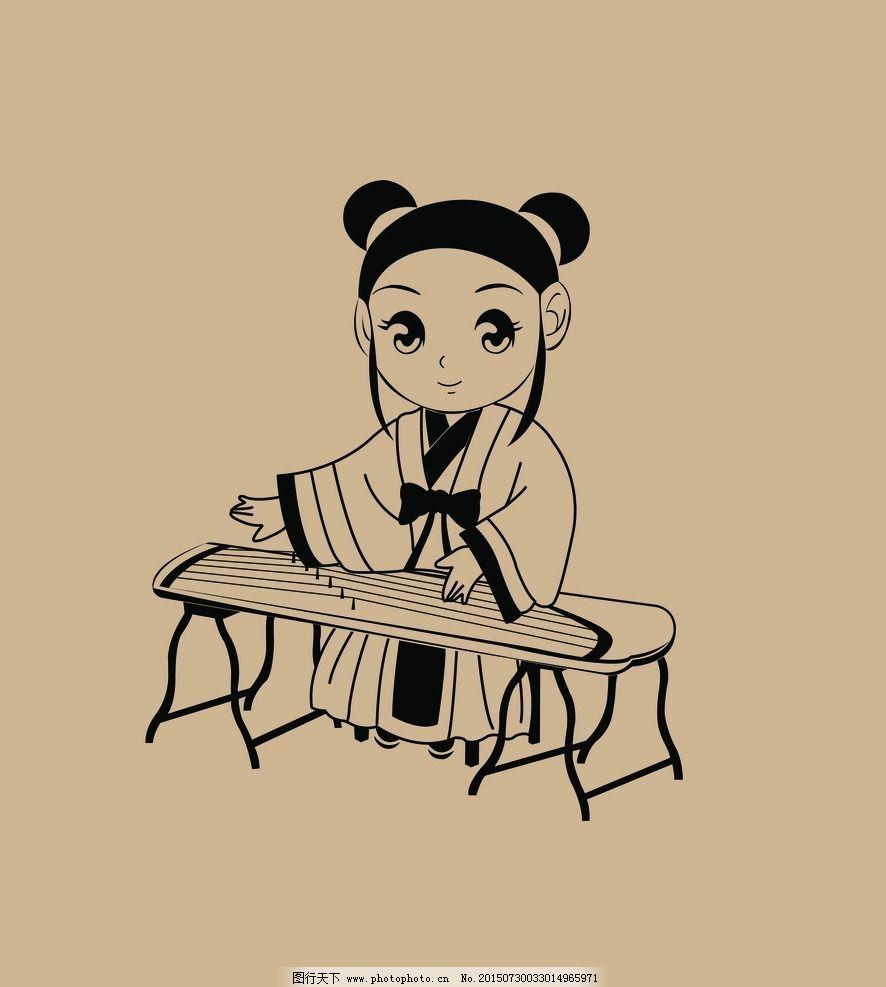 小女孩 卡通 可爱