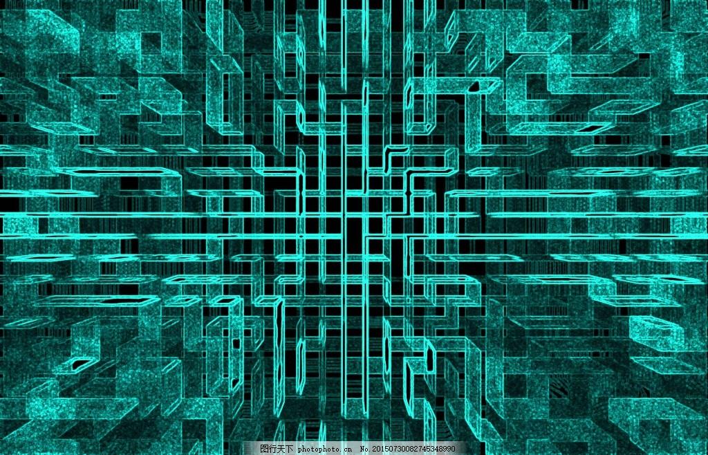 科技电路视图 科幻 精密电路图视觉 富有视觉冲击 青色 天蓝色