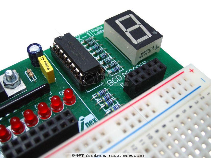 实验室里的电路板 七段 电子产品 线路板 领导 显示 测试 业余爱好