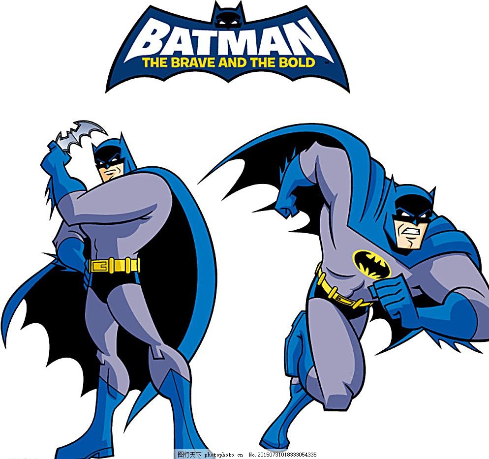 卡通蝙蝠侠矢量素材图片