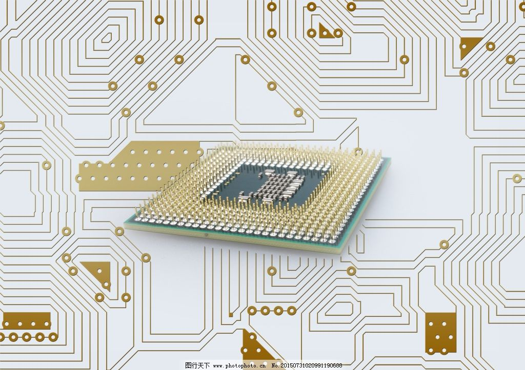 芯片电路背景_背景图片
