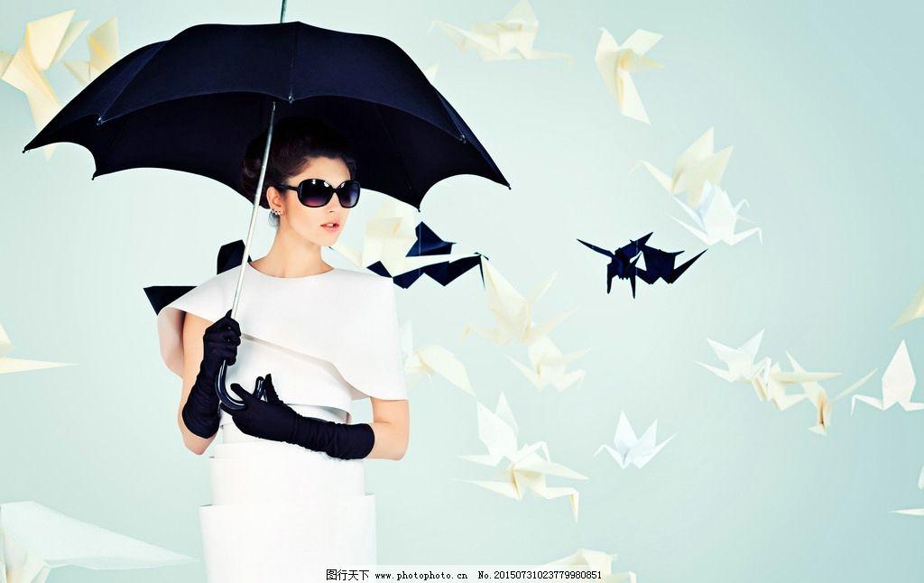 撑伞时尚美女图片