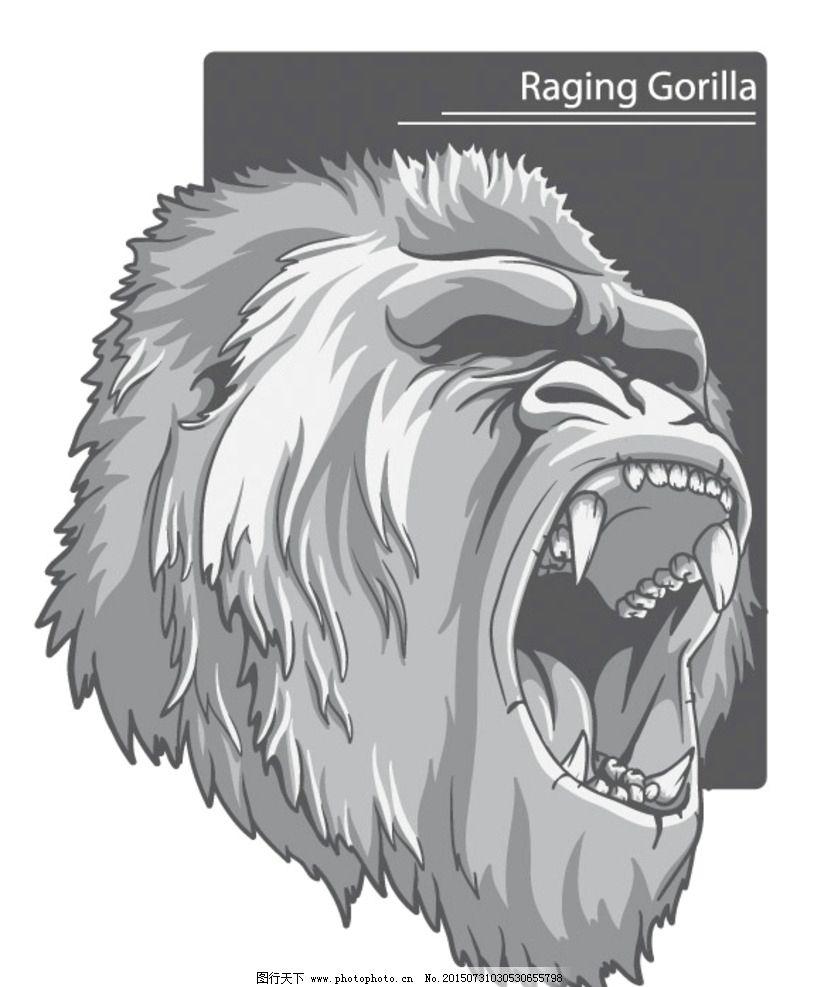 超酷大猩猩 金刚猩猩 金刚 大猩猩 超酷      刺青 纹身 设计 广告