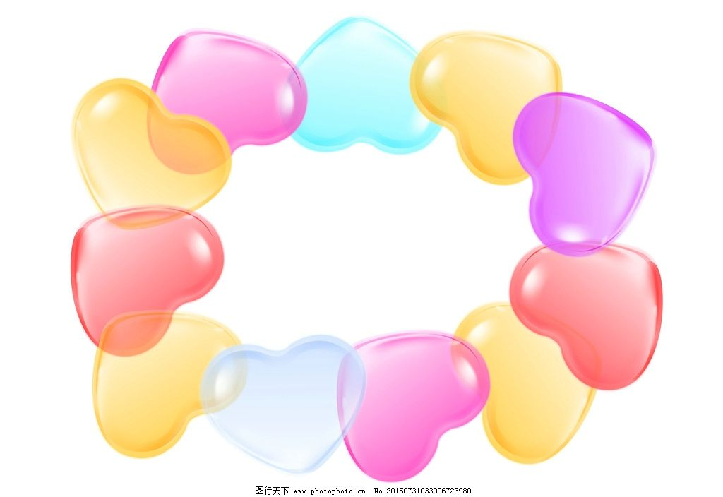 ps 设计 心形 气球 花圈  设计 psd分层素材 psd分层素材 300dpi psd