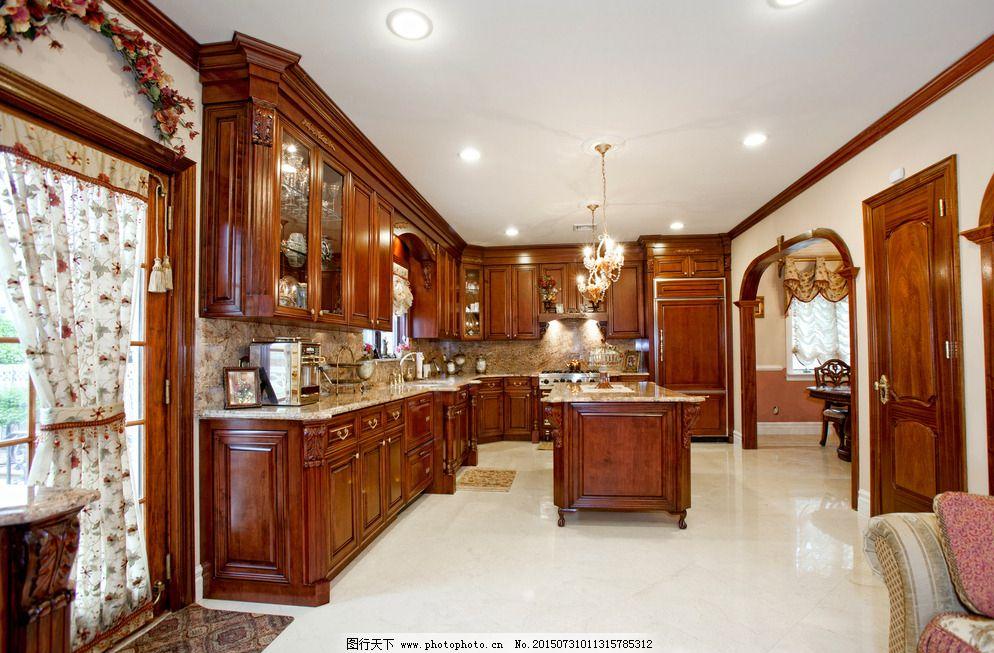 豪华欧式厨房装修图片