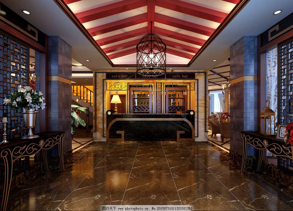 现代中式茶餐厅图片_室内设计图片图片