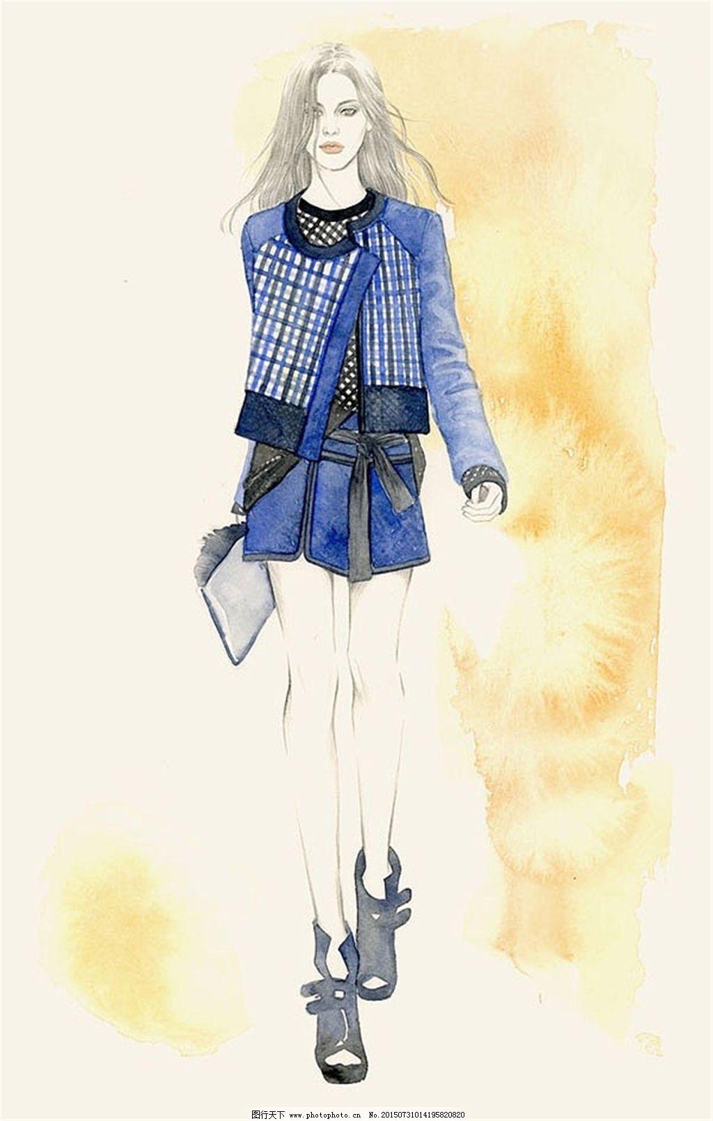 学习画动漫人物衣服