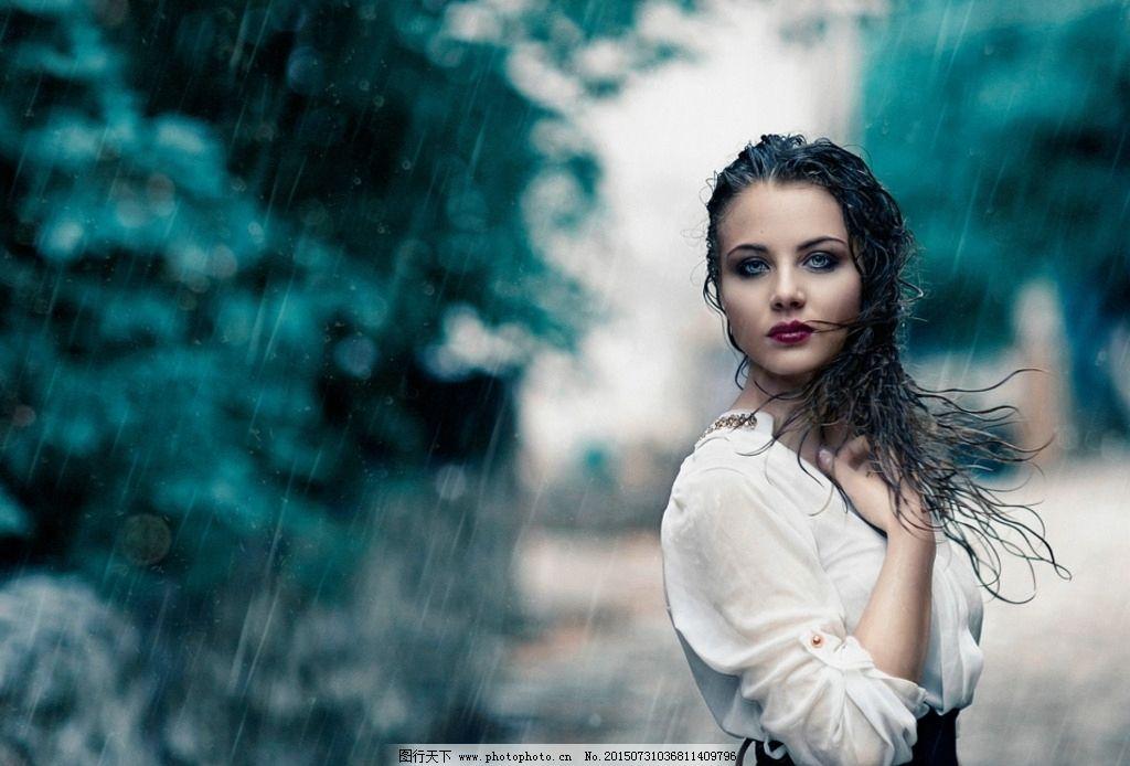 雨中美女图片_女性女人_人物图库_图行天下图库