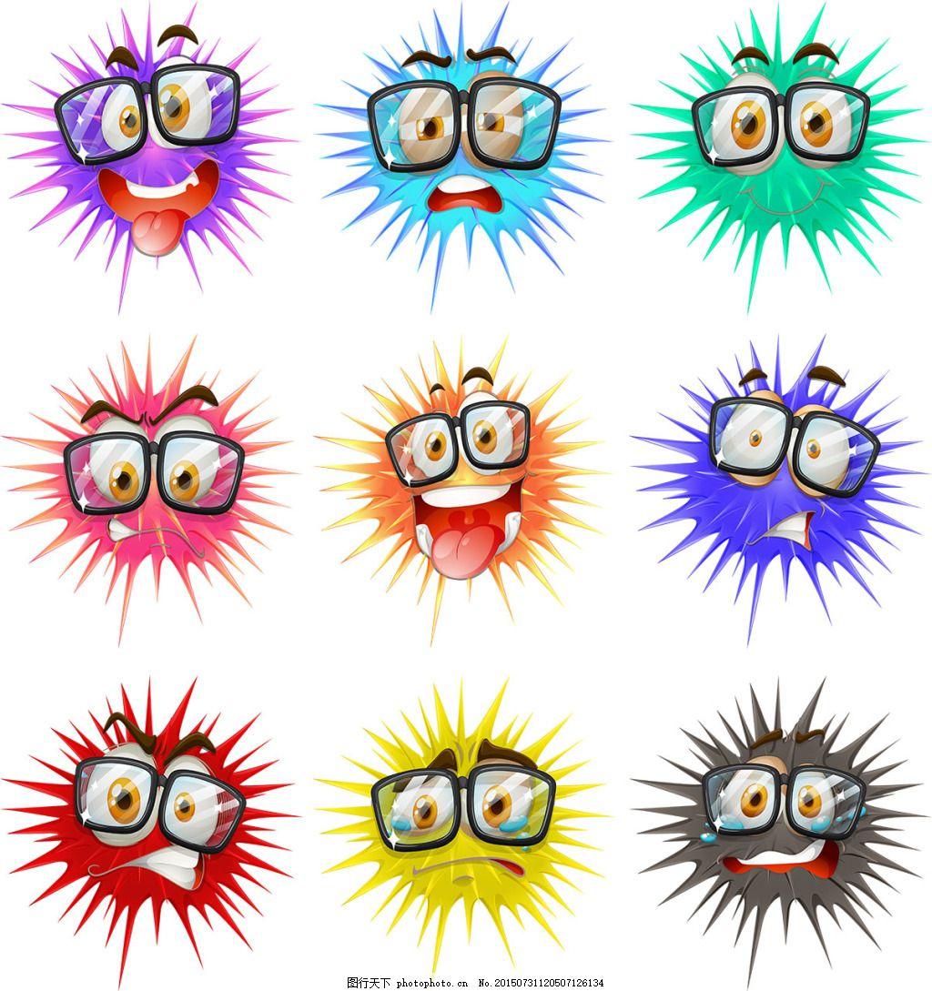卡通qq表情图标矢量素材,头像 可爱表情 笑脸 哭脸-图