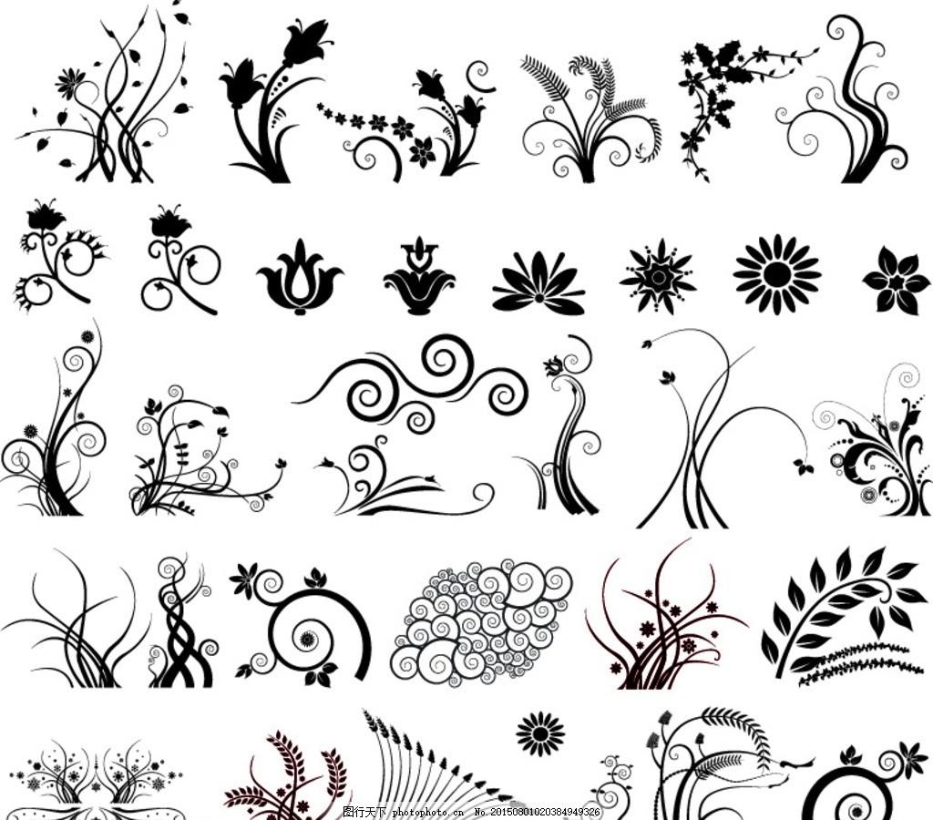 古典花纹装饰图案 古典 欧式 简易 旋转 圆 边纹 花纹 欧美 欧洲风格