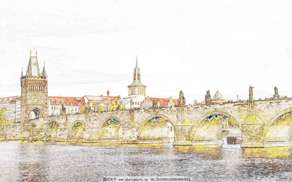城堡 高架桥 卡通 手绘 城堡 高架桥 手绘 卡通 图片素材 背景图片