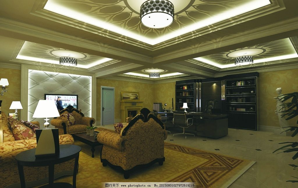 欧式 办公室 豪华 时尚 总经理 设计 环境设计 室内设计 150dpi jpg