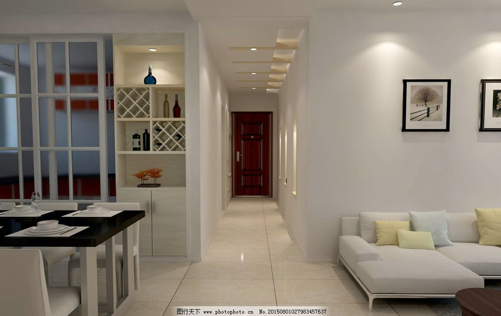 过道 餐厅 酒柜 吊顶 设计 环境设计 室内设计 72dpi jpg图片