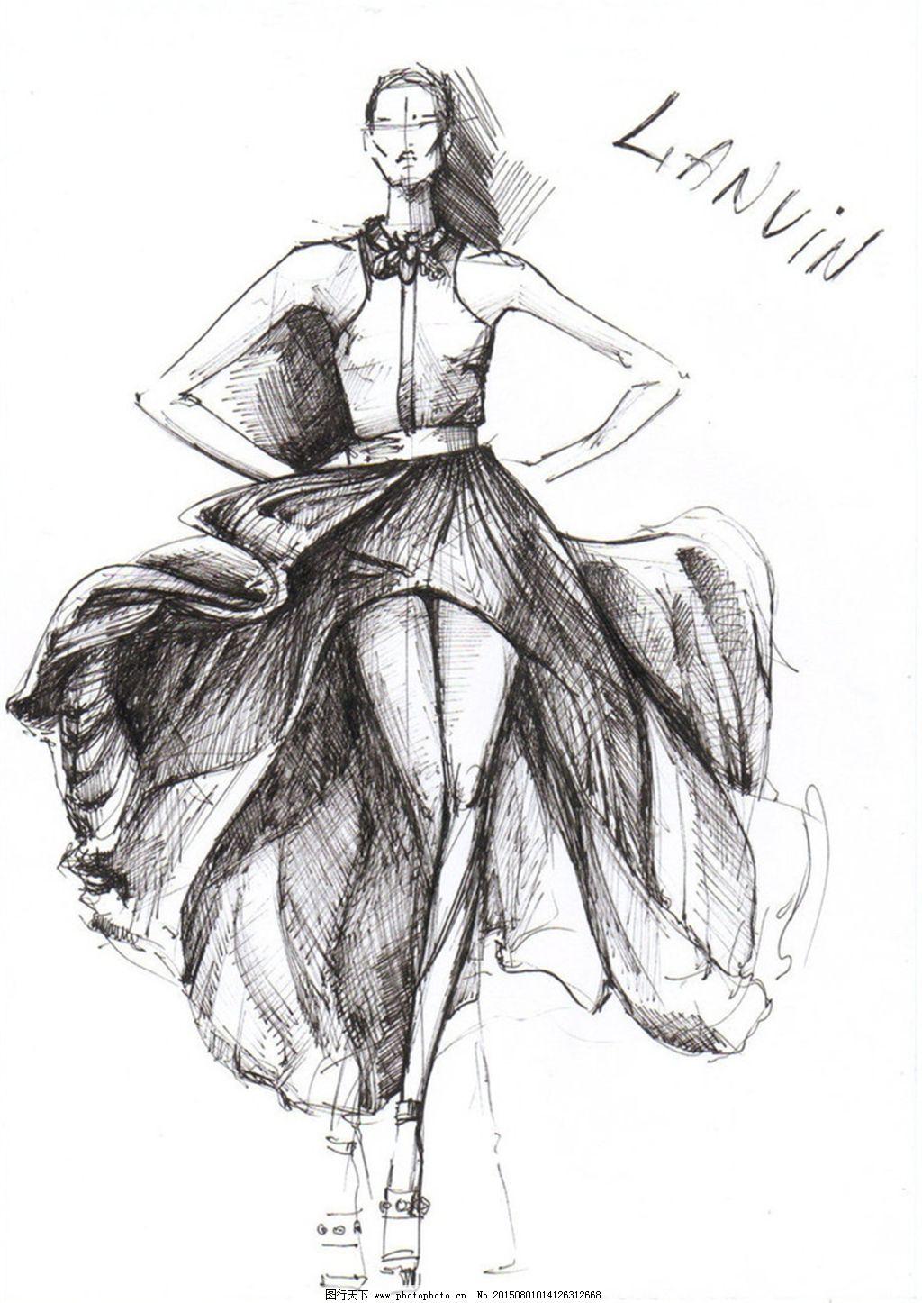 服装设计手绘效果图_手绘服装设计_服装设计_图行天下