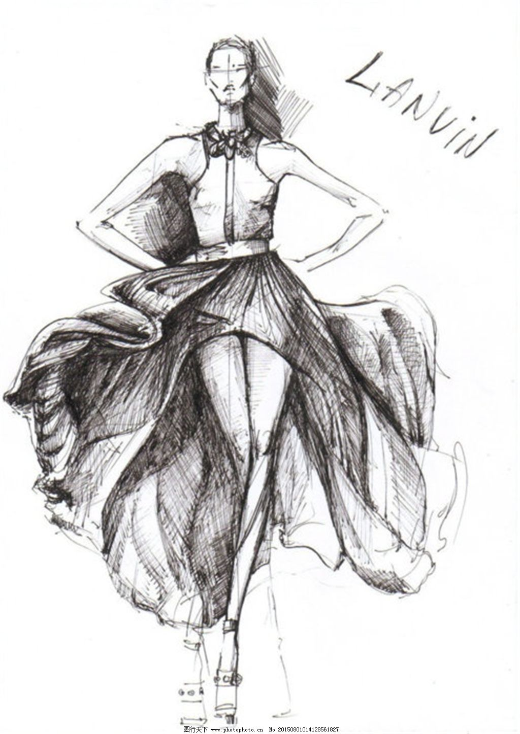 衣服简单手绘画图片