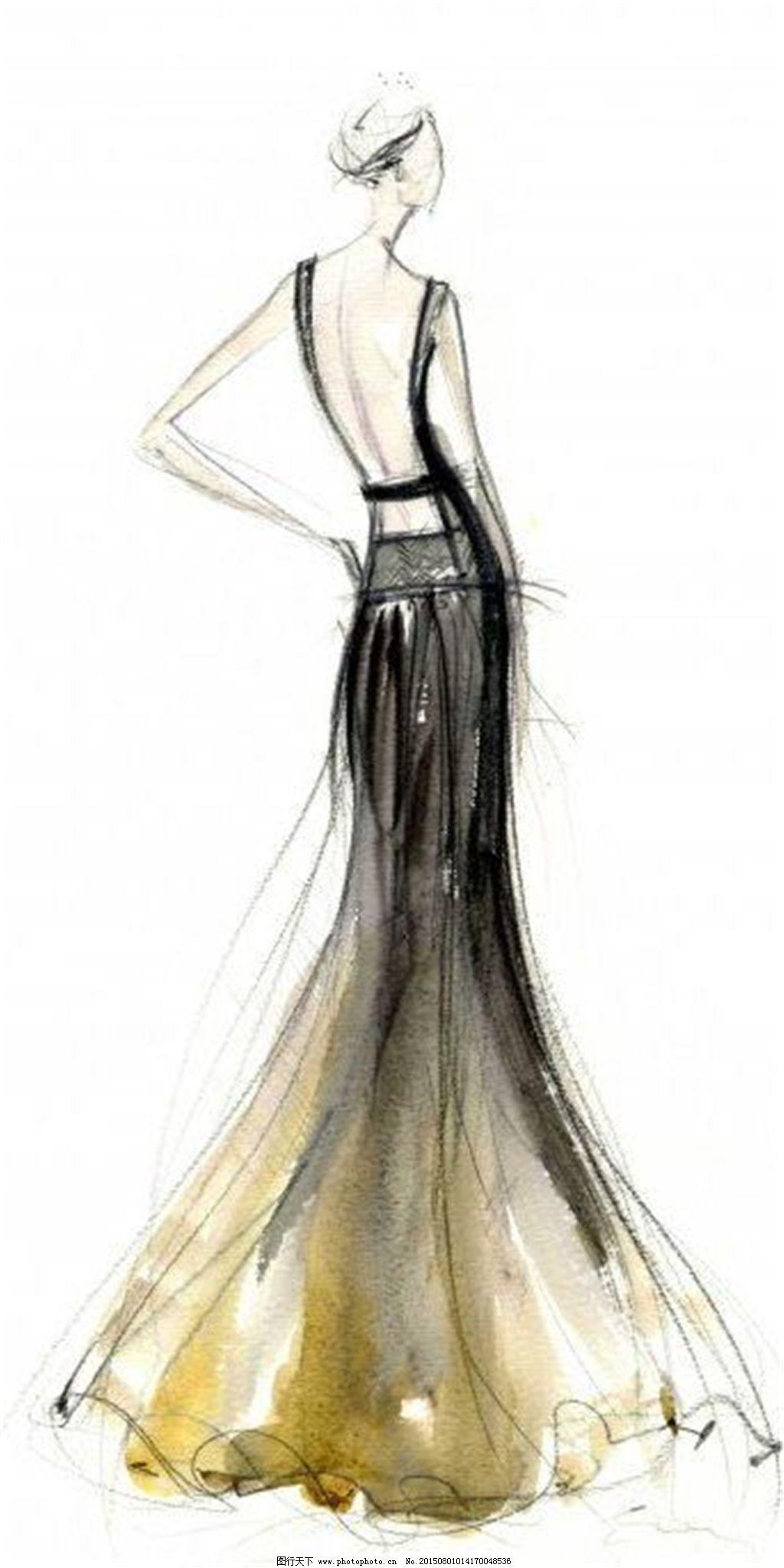 服装设计手绘效果图