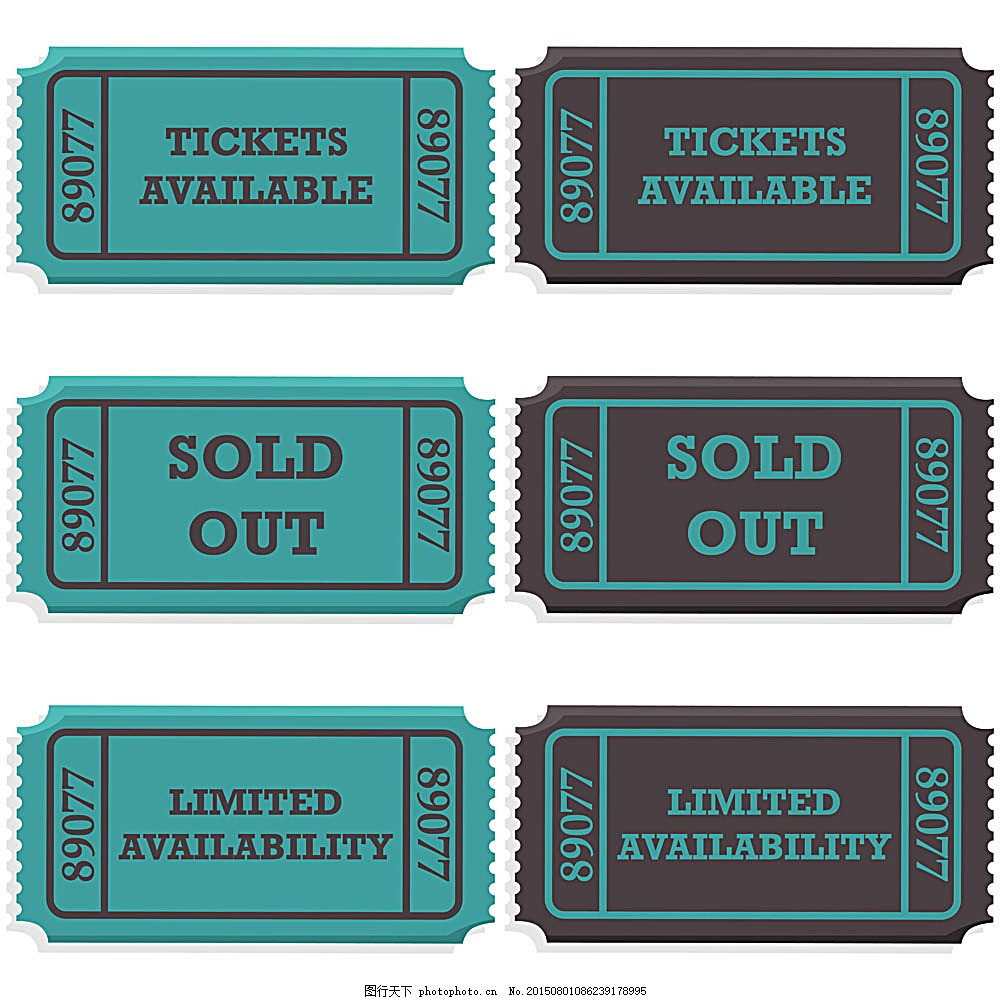蓝色复古入场券设计模板下载 蓝色 复古 锯齿 欧式风格 入场券 票