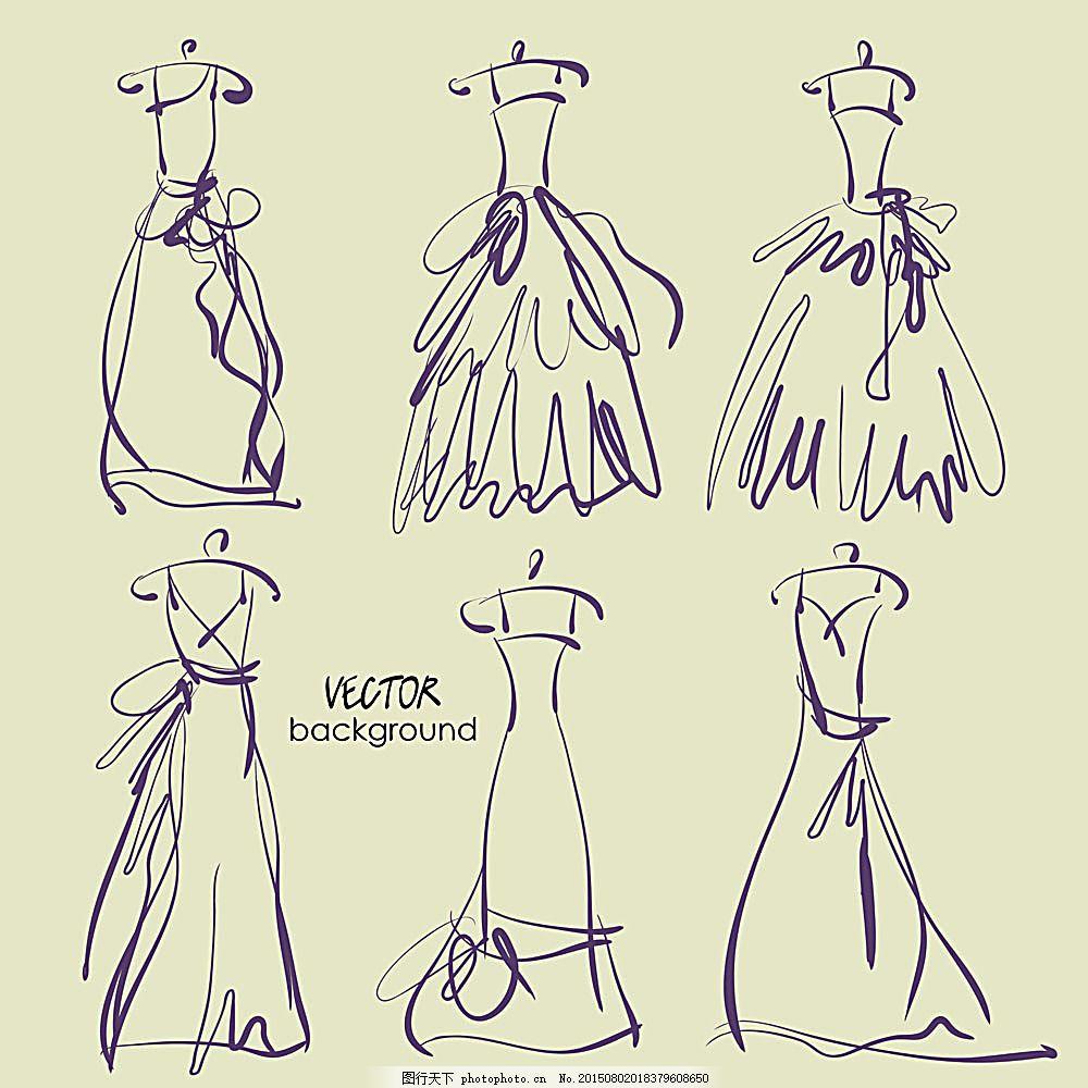 速写裙子 矢量裙子 手绘裙子 裙子插图 女性女人 矢量人物 矢量素材