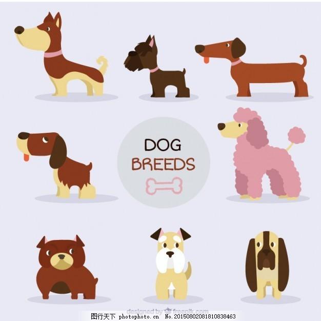 好狗品种收藏 房子 手 狗 自然 动物 手画 宠物 可爱 可爱的动物 画
