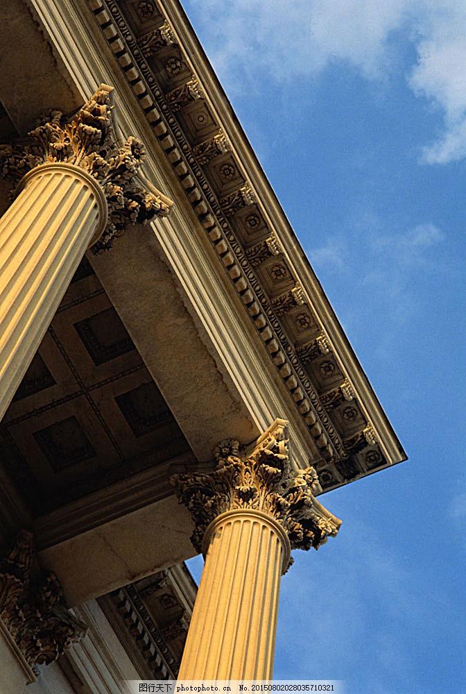 罗马柱 国外建筑 欧式建筑 建筑物 古典建筑 柱子 石柱 科林斯柱