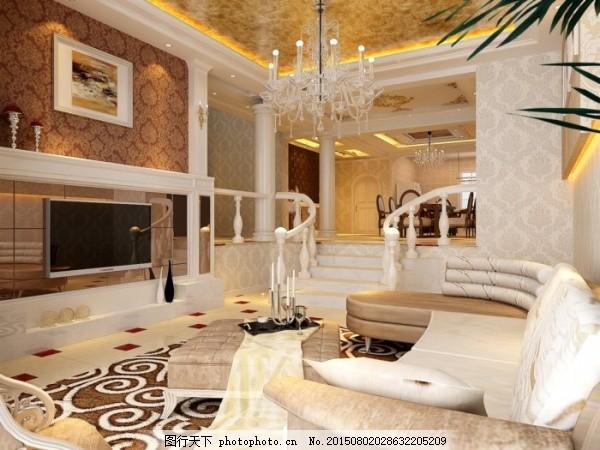 欧式建筑 欧式家装 室内设计 电视背景墙 欧式家具 欧式模型 3d模型
