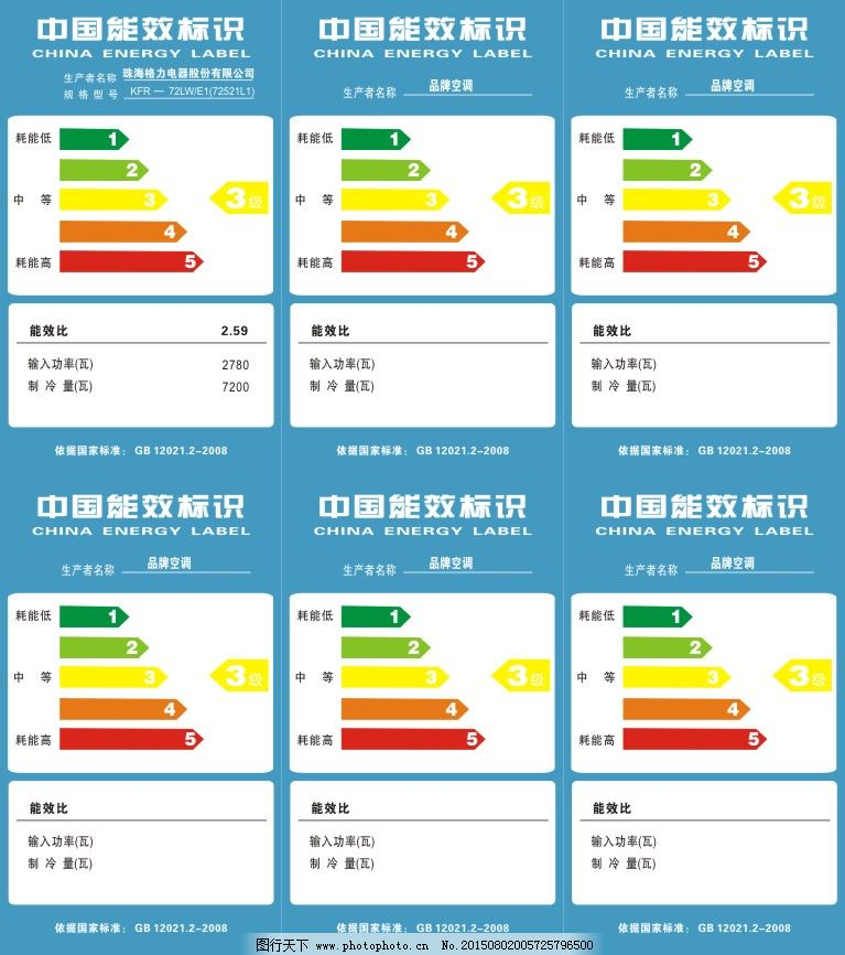 cdr 标识标志图标 标志 公共标识标志 节能 节能标志 中国节能标识