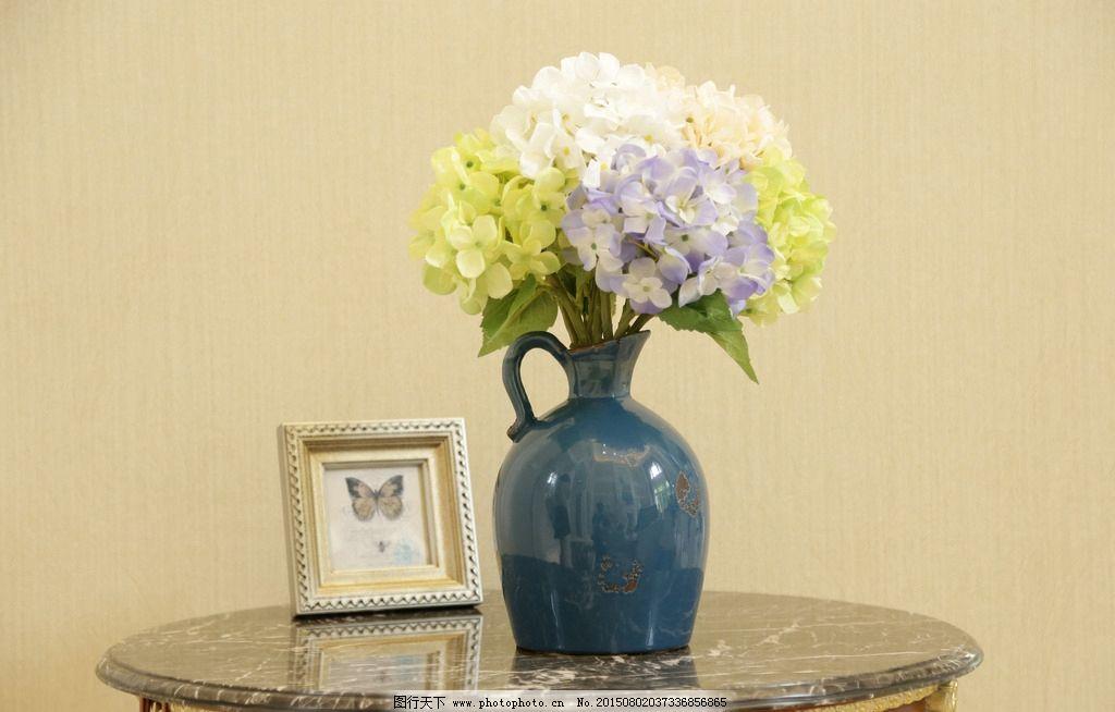 桌子 桌子素材 大理石桌面 装饰桌面 欧式家具 暖色调家具 装饰 花瓶
