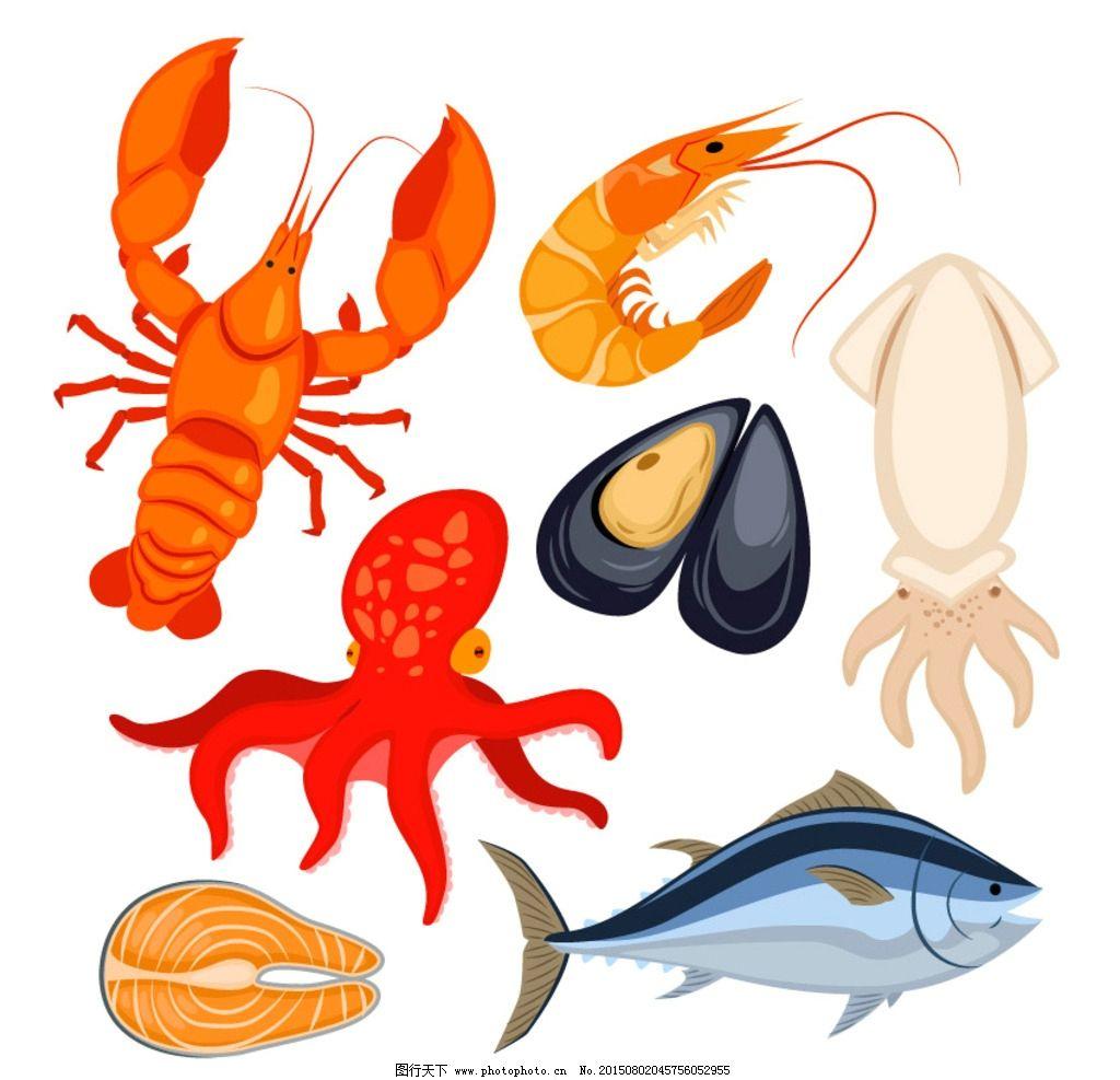 海鲜美食集 食品 鱼 餐厅集 龙虾 蚌 章鱼 三文鱼 乌贼 鲜味