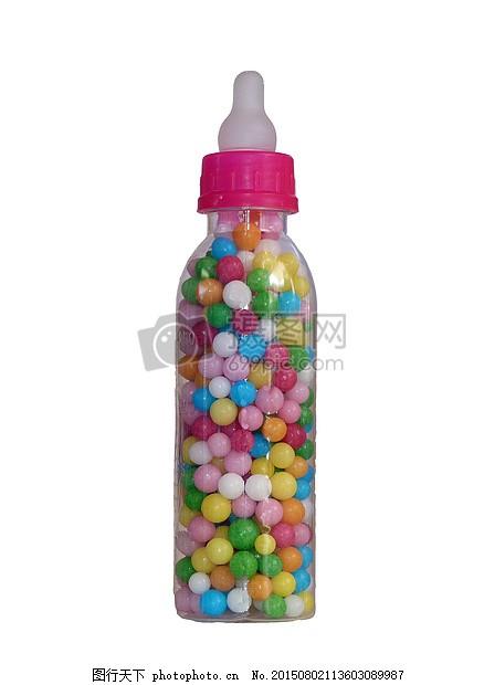 瓶子里的彩色糖果