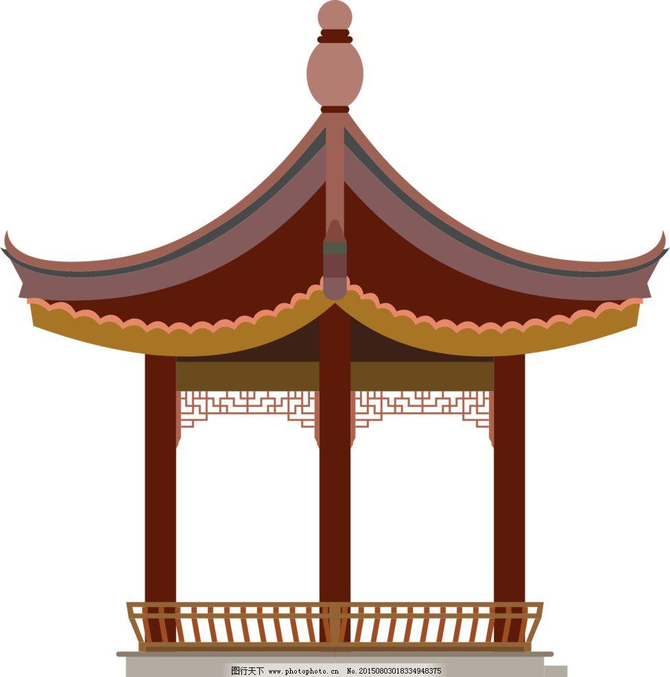 矢量亭子图片_动漫人物_动漫卡通_图行天下图库
