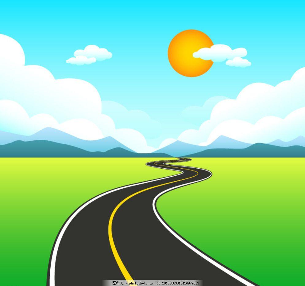 蓝天白云公路图片图片