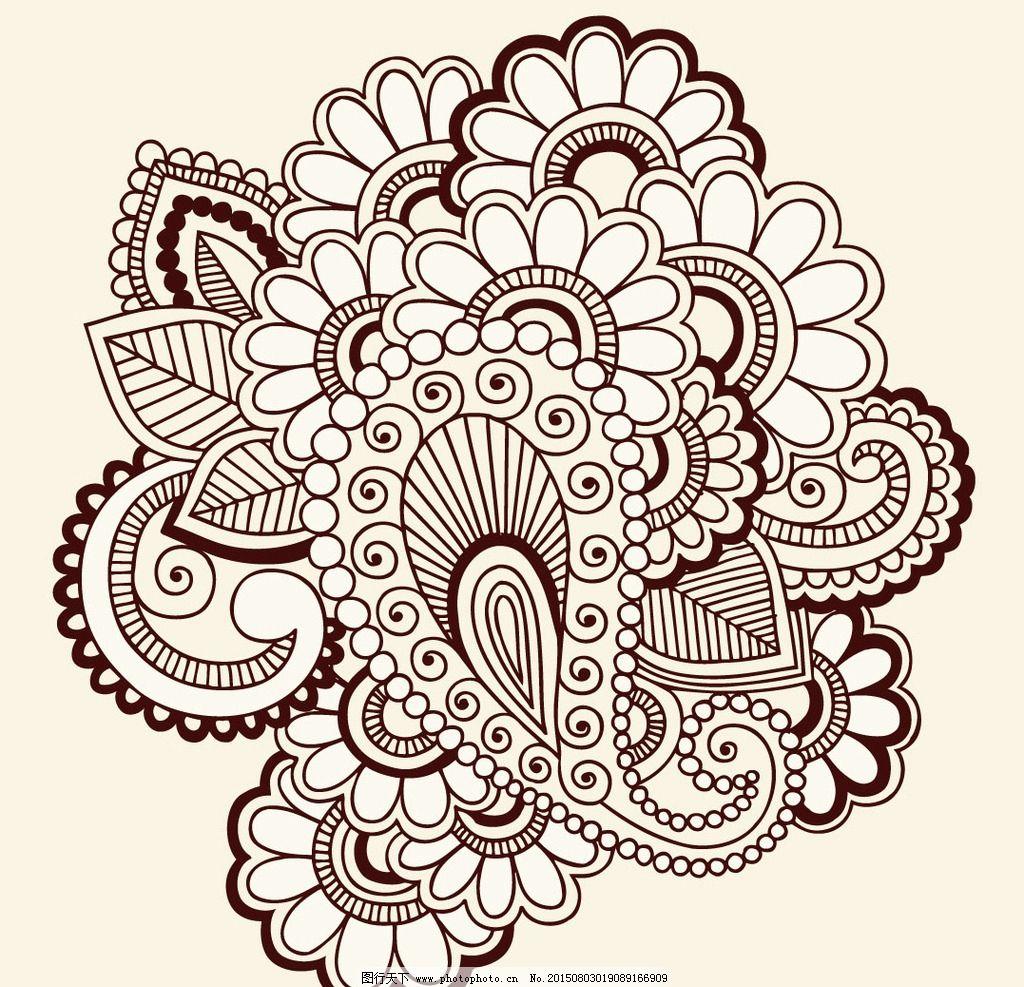 手绘花卉变形_花卉图案设计图片-创意花卉图案设计_创意图案设计图片_图案 ...