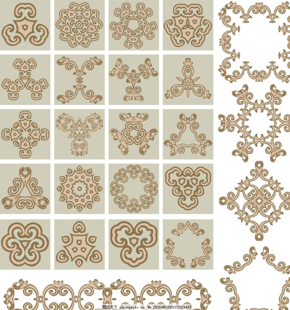 旋转 圆 边纹 花纹 欧美 欧洲风格 古典风格 黑白 花形 中式 背景图片