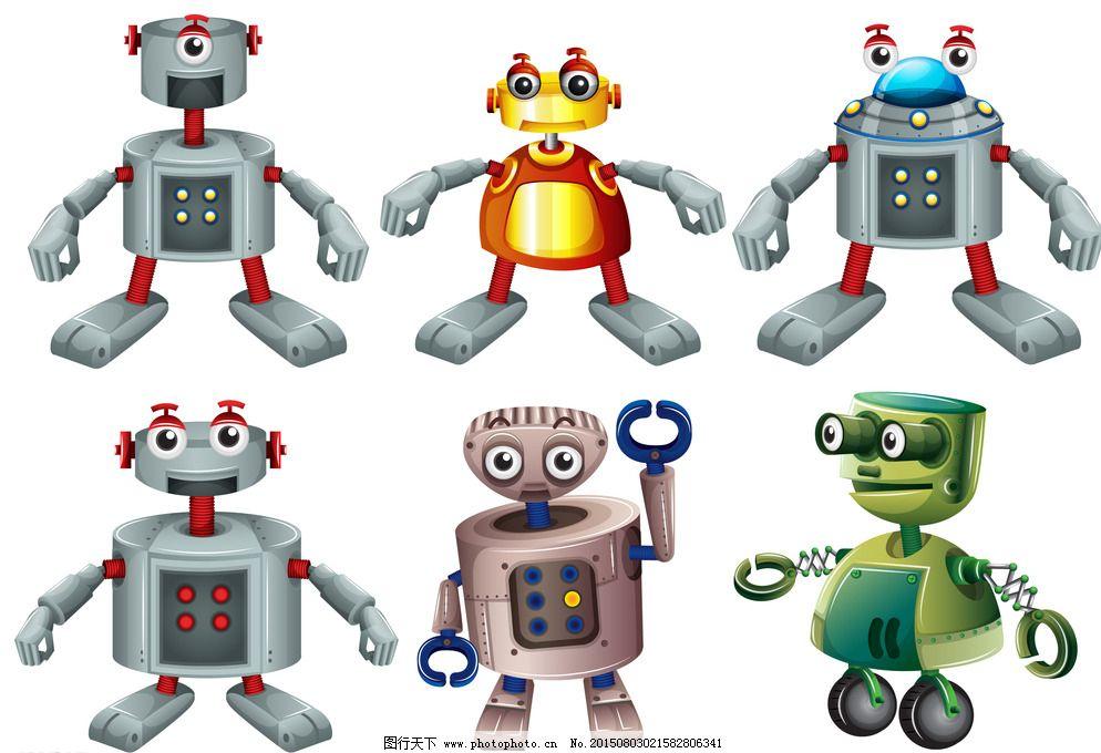 卡通机器人 科技 科技背景 科技时代 机器人 现代科技 创意 创想 手绘