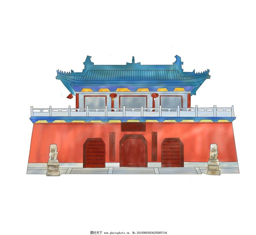 古建筑 风景 名胜古迹 建筑 手绘插画 地标建筑 手绘建筑 设计 自然