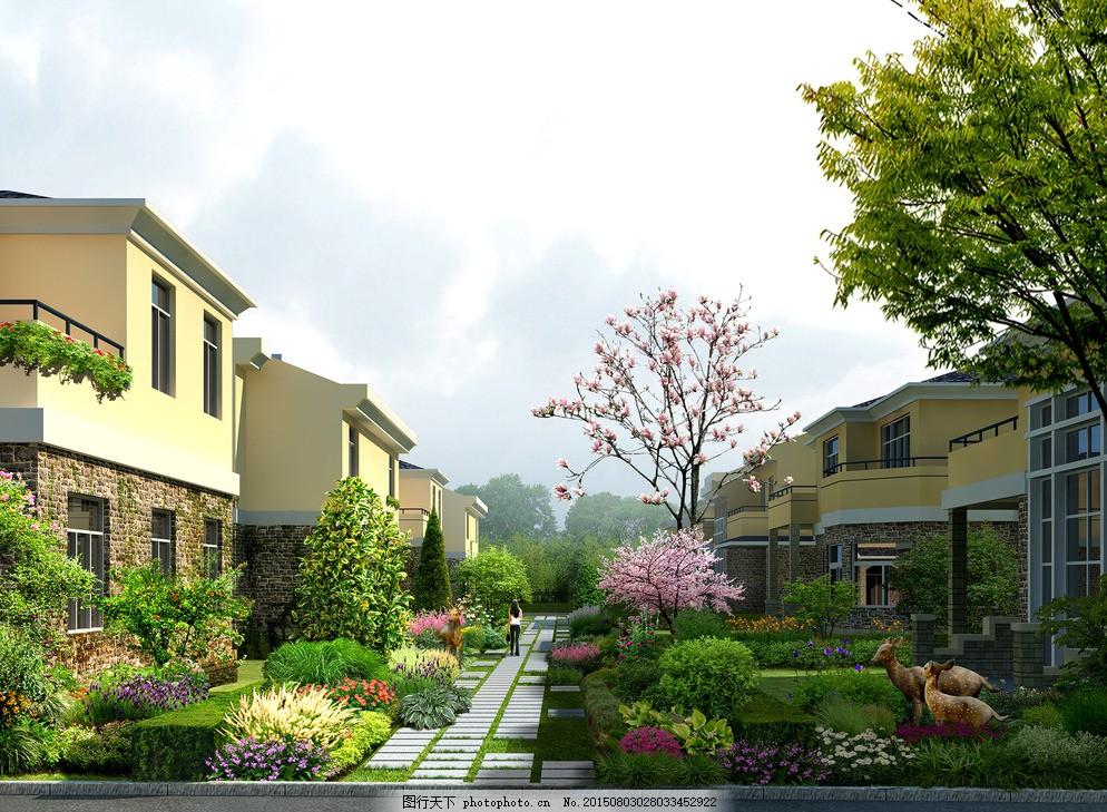 别墅 花园 欧式别墅 别墅效果图 景观园林设计 环境设计 豪华别墅