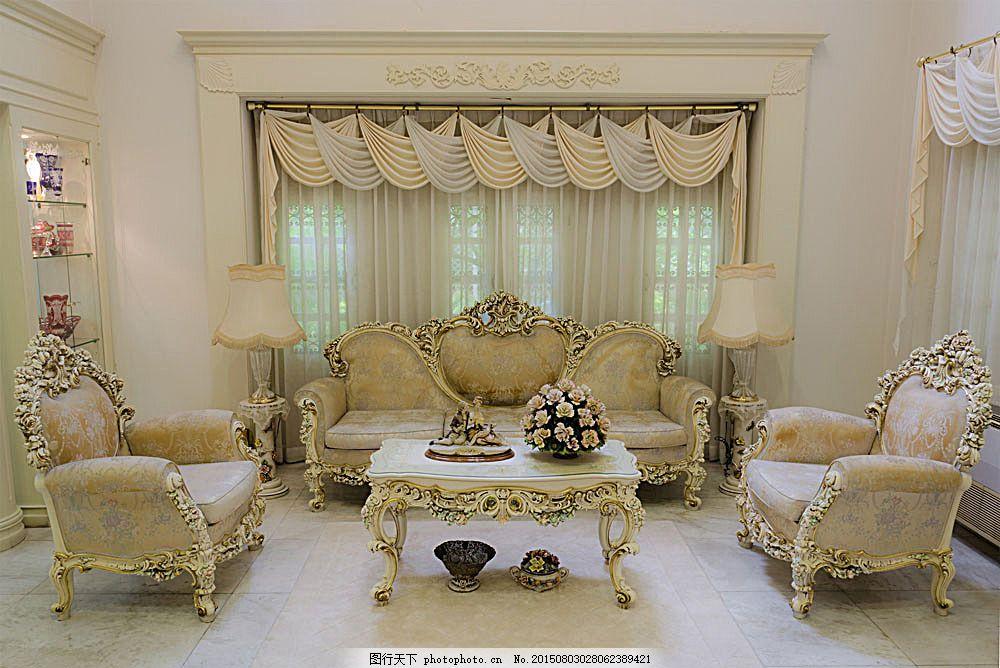 白色欧式沙发 白色 欧式风格 沙发 装修 装饰 室内设计 环境家居 图片