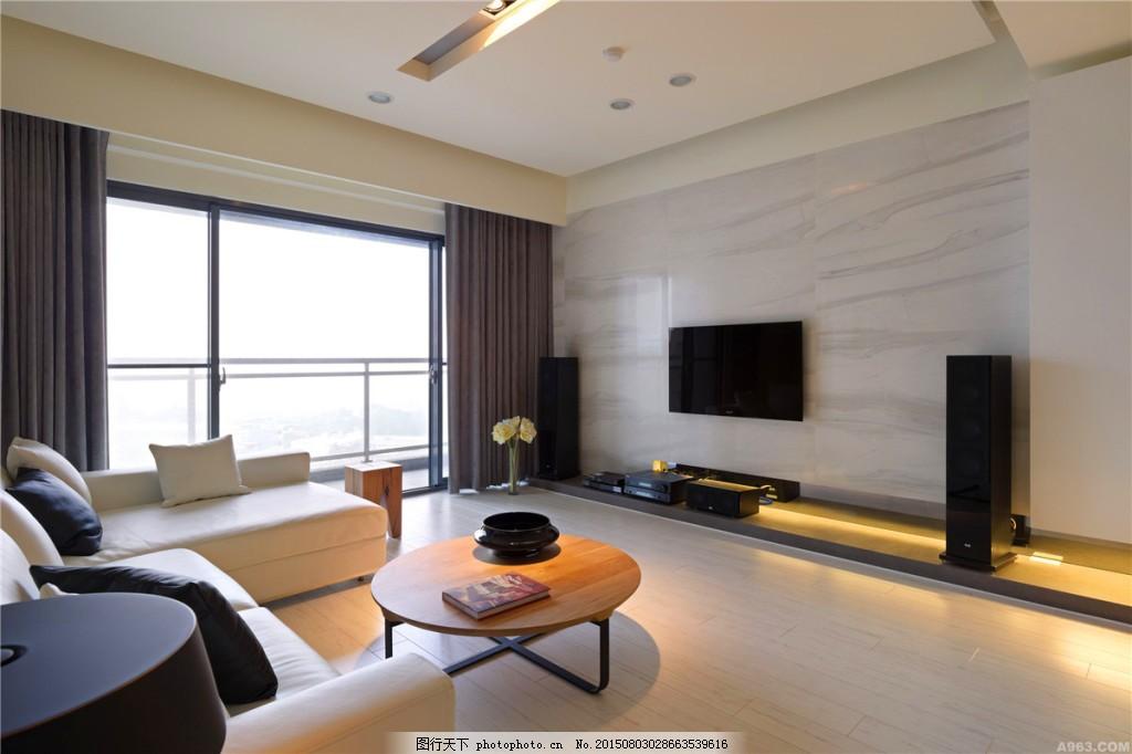 中式客厅灰色地板砖装修效果图
