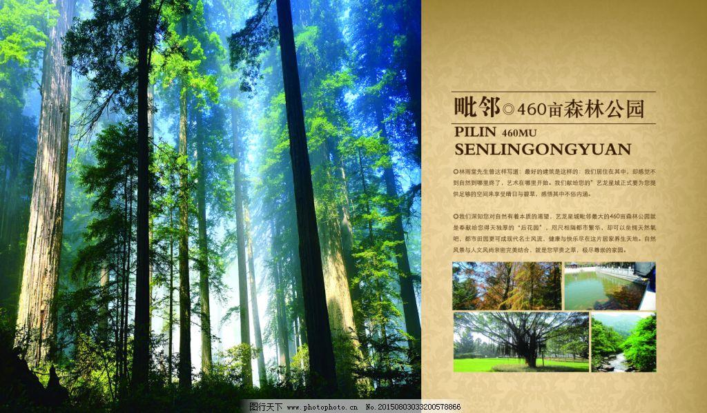 房地产 千图 森林 园林 园林 房地产 海报 森林 千图 psd源文件 广告